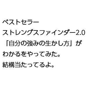 ベストセラー ストレングスファインダー2.0「自分の強みの生かし方」がわかるをやってみた。結構当たってるよ。