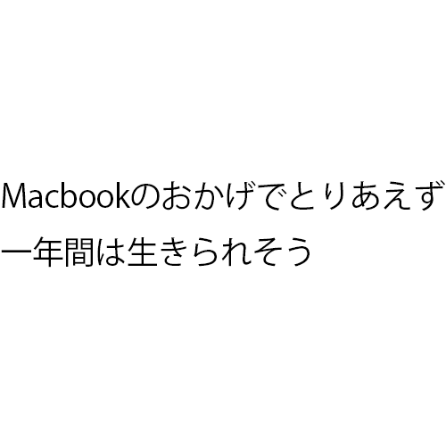Macbookのおかげでとりあえず一年間は生きられそう