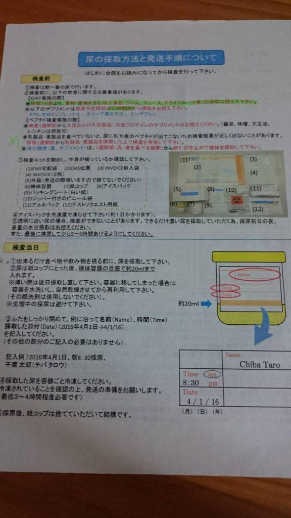 ペプチド検査方法1