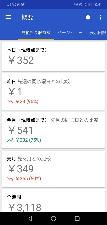 ブログ歴1年5ヶ月で月に563円突破!